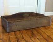 Antique Wooden Tote - HEAVY DUTY - Metal Bottom - CRUSHER
