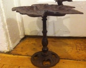 Decorative Cast Iron Bird Bath with Hummingbird - Heavy