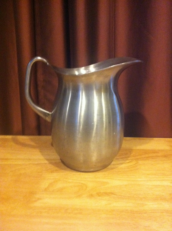 Vintage Vollrath Stainless Steel Water Pitcher - 5.5 Qts - ITS HUGE