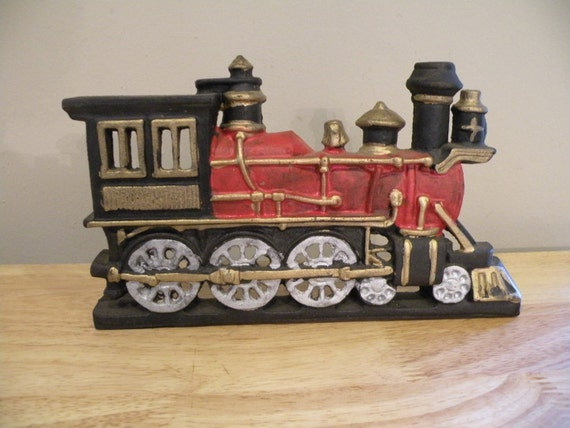 Cast Iron Locomotive Doorstop - Heavy and Awesome