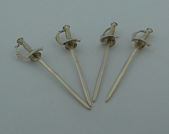 Sterling 925 Martini or olive Picks x 4 piece