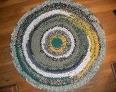 Crocheted  round Rag Rug