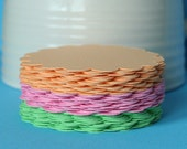 """54 Scallop Circles for gift tags, embellishments, scrapbooking and more.  2.25"""" Sherbet Assortment."""