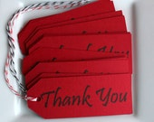 12 Thank You Tags with Bakers Twine