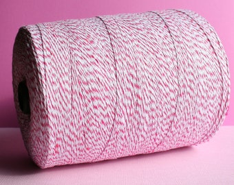 25 Yards Pink & White Baker's Twine