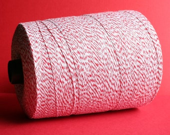 SALE - 100 Yards Red & White Baker's Twine