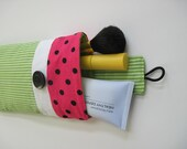 Watermelon Cosmetic Pouch, Padded with Tab Closure, 7.75 x 4.5 inches