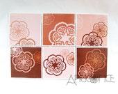 Soorj (Tasseography) Tile Coasters