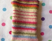 Candy colored stripes surround this iPhone, iPod touch, cell phone cover