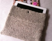 Beige, brown, ragg wool iPad2 cover, reclaimed sweater, eco-friendly, men, women, children