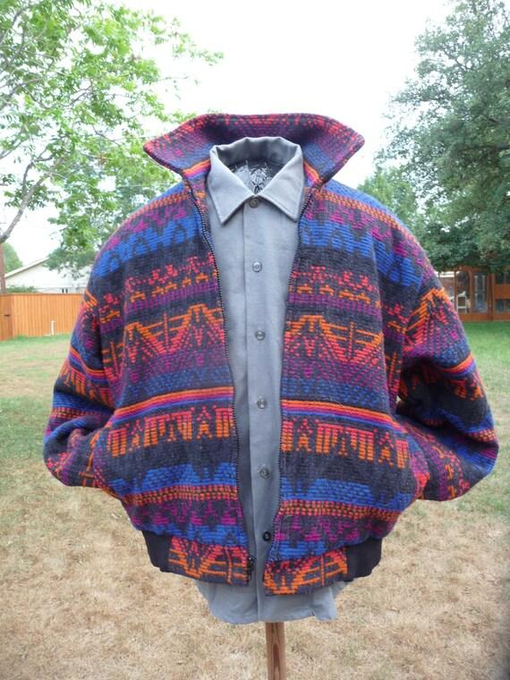 Vintage 1980's David James Western Indian Style Coat Jacket Unisex