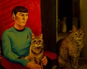 Custom Pet Celebrity Portrait Acrylic - Large Size
