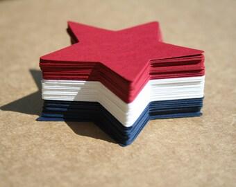 Star Die Cuts, 4th of July Die Cuts, Patriotic Die Cuts, Red White & Blue, Scrapbook Embellishment, Patriotic, Gift Tags, Wish Tree