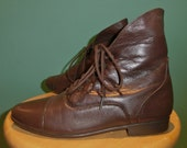 Best brown lace up  granny ankle boot Size 8