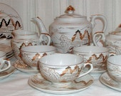 Lovely Gold and White Tea Set