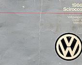 1986 Volkswagen Sicrocco Owner's Manual Scirocco 000-5650-26-21