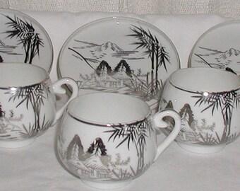 Lithophane Cup and Saucer Set