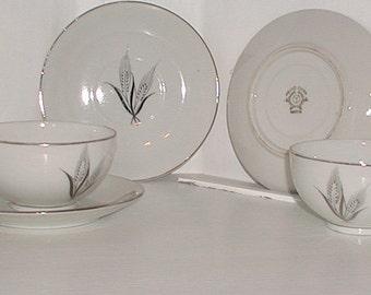Lithophane Nippon Meiyo China Silver Set