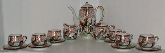 Chocolate Pot Tea Set Made by Sadek in Japan