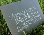 Calligraphy Envelopes Wedding Invitations Custom