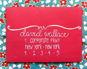 Envelope Addressing / Hand Lettered Envelope / Modern Calligraphy Addressing / Wedding Invitation Calligraphy
