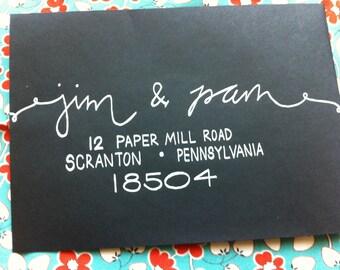 Calligraphy Envelopes / Wedding Envelope Calligraphy / Wedding Envelopes / Envelope Addressing / Wedding Calligraphy Envelope Addressing