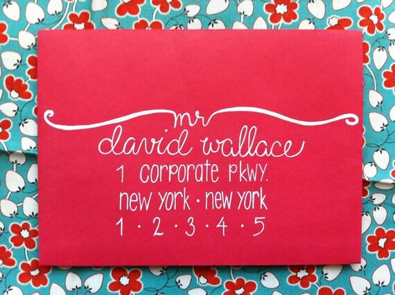 Custom Wedding Address / Hand Lettered Envelope / Modern Calligraphy Envelope Addressing / Wedding Calligraphy Envelope Addressing / Modern