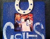 Indianapolis Colts Rustic Wood Picture Frame