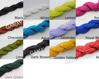 Optional Colors 18Yard 1.5mm Chinese Knotting Cord/Braided Nylon Beading Cord 13 Colors available
