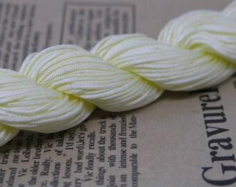 33Yard  1.0mm Cream Chinese Knotting Cord / Braided Nylon Beading Thread