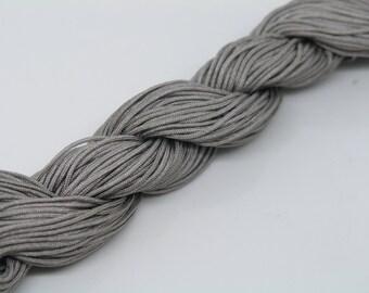 33Yard 1.0mm Grey Chinese Knotting Cord / Braided Nylon Beading Cord