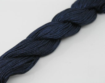 33Yard  1.0mm Navy Chinese Knotting Cord / Braided Nylon Beading Thread