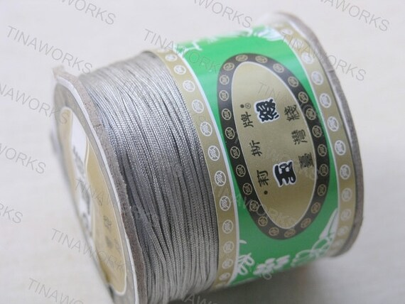 1mm Grey Chinese Knotting Cord / Braided Nylon Bead Cord (136 yd roll)
