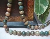 6mm Picasso Jasper gemstone round loose beads, Item M282  -10pcs