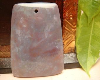 Multi-color Agate pendant bead 47x35x8mm, Item M58