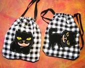 Set of 2 -Drawstring Pouch