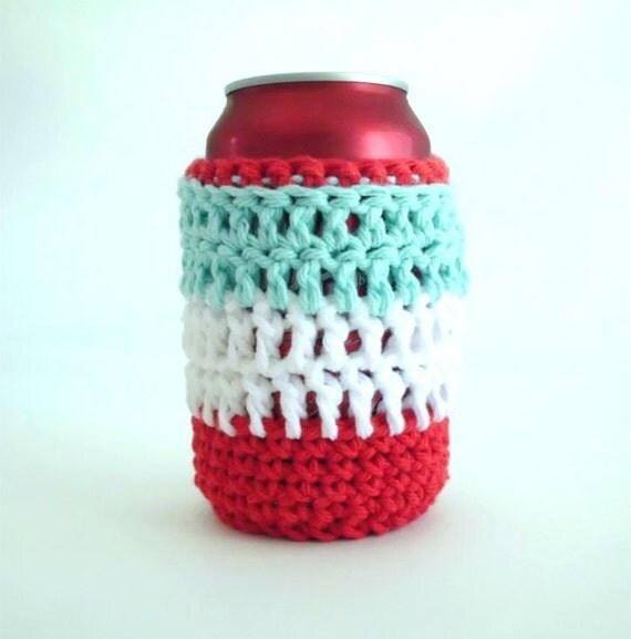 Crochet Can Cozy - Retro Colors - SALE SALE SALE