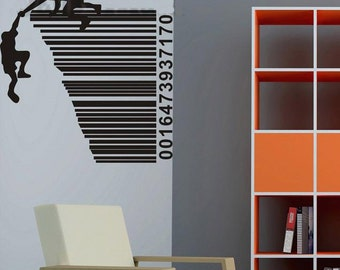 100x95cm Rescue Barcode  Nature Vinyl Wall Paper Decal Art Sticker Q310