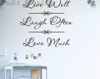 81x77cm Live-Laugh-Love Art Words   Nature Vinyl Wall Paper Decal Art Sticker Q334
