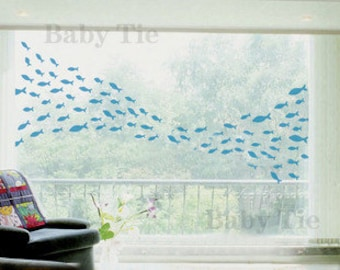 100pcs Fish  Nature Vinyl Wall Paper Decal Art Sticker Q31