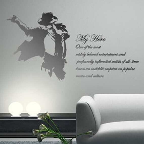 michael jackson and art words nature vinyl wall paper decal michael jackson wall sticker art bedroom vinyl decal home
