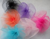 Layered Tulle Blooms in Your Wedding Colors Set of  6 Appliques Gift Decor Wedding Decor by Leelee's Bridal Accessories on Etsy