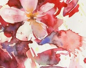 Anthesis series -01- Original Abstract Flower Watercolor Painting by ALFRED CHOO
