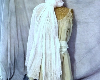 White Sands Scarf Long Shawl Wrap Oversized Beach Bride Long Cotton Accessories Fashion Womens