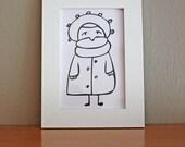 Winter illustration print