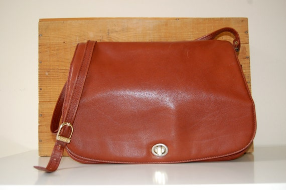 Vintage Brown Kiss Lock Cross Body Hobo Bag