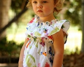 Girls dress in Australian Cotton country and vintage