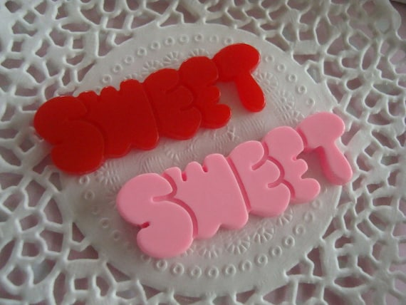 2pcs Sweet flatback cabochon
