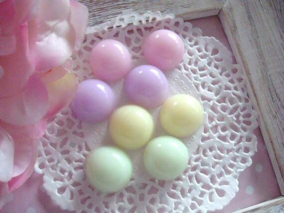 8pcs Handmade Resin Candy Dots cabochons flatback