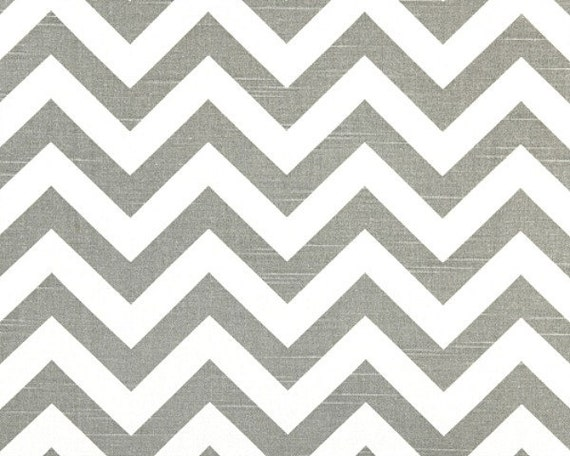 Fat Quarter - Chevron - ZigZag fabric - Premier Print in Ash / White Slub Home Dec Weight - FQ